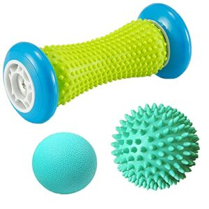 Lot de 3 balles de massage pour les pieds – Rouleau de massage et balles de massage pour fasciite plantaire – Pour soulager le stress et la détente