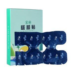 Lot de 3 patchs chinois auto-chauffants pour soulager la douleur du genou – Essence de plantes – Moxibustion – Pansement autocollant