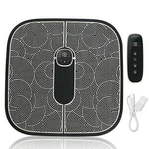 Masseur de Pieds Électrique EMS, Coussin de Massage des Pieds avec TENS Pulse, 6 Modes de d'Impulsion 19 Niveaux d'Intensité, avec Télécommande, USB Charge, Pour Améliorer la Circulation Sanguine