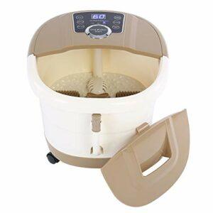Masseur de spa pour les pieds, contrôle numérique de la température de la baignoire spa pour les pieds avec bulles de chaleur et vibrations pour apaiser et réconforter les pieds