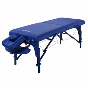 Master Massage Monclair Mobil Table de Massage Pliable Bleu impérial 71 cm