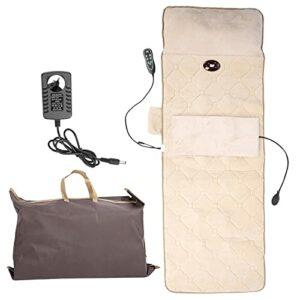 Matelas de Massage Corporel – Coussin de Chaise de Massage électrique Tapis de Massage pour les épaules et le Cou Tapis de Massage Coussin de Pétrissage Vibrant pour le Chauffage Lombaire(EU)