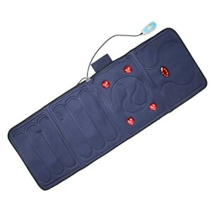 Matelas de Massage – Coussin de Chaise de Massage électrique avec 9 Modes de Vibration de Chauffage Pliant Tapis de Massage Complet du Corps Coussin de Massage Corporel Léger Rouge pour(EU)
