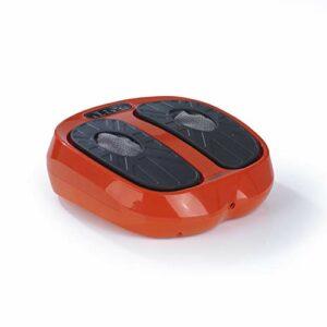 Maxxmee Appareil vibrant d'entraînement et de massage   Massage Shiatsu supplémentaire   Télécommande incluse   3 programmes et 15 niveaux d'intensité [Orange/noir]