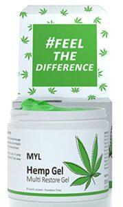 M.Y.L. Gel crème à l'huile de cannabis, romarin, camphre et menthol – Apaisant pour douleurs – 300ml