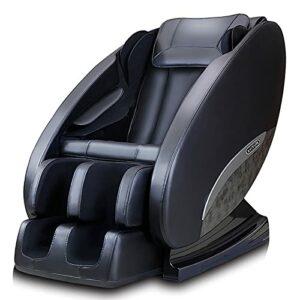 N/A Chaise de massage pour tout le corps, Smart Zero Gravity Home avec télécommande, haut-parleur Bluetooth, chaleur (Noir)