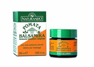 Naturando Pomata Balsamika 30 ML Lens Fasts musculaires et douleur cervicale, idéal pour le massage