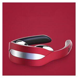 NGLWA Massager Au Cou Chauffé, Massage Intelligent Au Cou, Massage Au Cou Électrique sans Fil, 6 Modes, Masseur De Cou Portatif De 16 Niveaux (Color : Red)