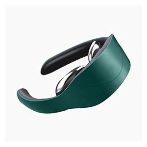 NGLWA Masseur Au Cou, Massage des Tissus Profonds pour Soulager La Douleur Au Cou, Masseur De Cols Cervical Électrique avec Chauffage (Color : Green)