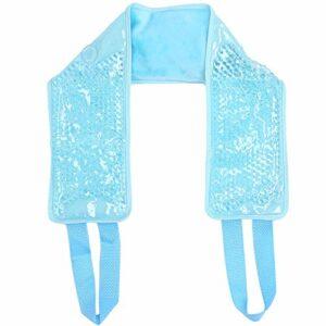 Pack de glace pour les blessures au cou, oreiller de compresse froide en gel pour les blessures au dos, soulagement de la douleur pour les blessures, gonflement, soulagement de la douleur(#1)