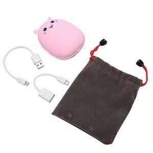 Pelnotac Bouillotte rechargeable, ABS et alliage d'aluminium, portable à transporter, adaptée pour une utilisation en salle de classe, bureau (lapin rose)