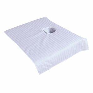 perfk Couverture de Drap de Lit de Massage de Beauté – Blanc 50x80cm