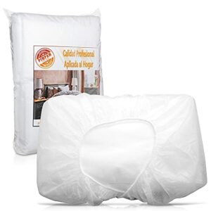 PimPam Factory Lot de 10 draps en TNT jetables réglables Fabriqué en Espagne 95 x 220 cm 100 % recyclables Idéal pour lits et tables de massage