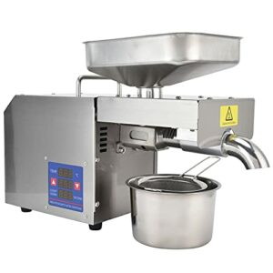 Presse à huile, extracteur d'huile boîtier en acier inoxydable facile à nettoyer pour l'huile de cuisson(pink)