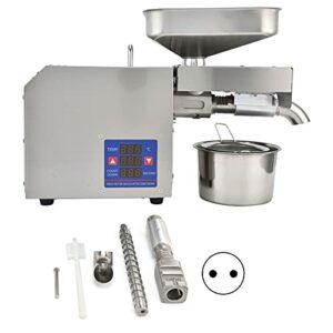 Presse à huile, extracteur d'huile facile à nettoyer Génération de dissipation thermique Contrôle de la température Boîtier en acier inoxydable pour huile de cuisson(rose)