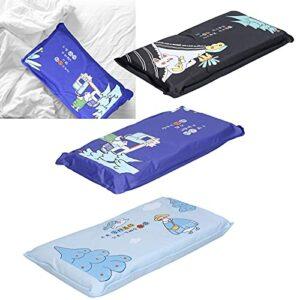 Refroidissement d'oreiller de glace, oreiller de refroidissement de glace Coussin de tapis de refroidissement mignon d'été pour le dortoir de maison d'étudiant adulte(Marine)