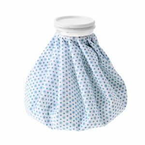 Sac de glace froid, sac de glace réutilisable pour soins de santé 1500 ml avec sac de glace plissé à grande ouverture pour les blessures, soulage la douleur et l'enflure(White snowflake)