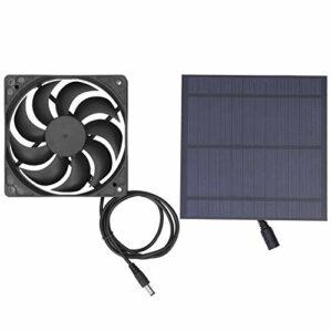 SALUTUY Ventilateur de Refroidissement de Panneau Solaire, Silicium monocristallin de Ventilateur à énergie Solaire de 5 W respectueux de l'environnement pour Le Refroidissement de chenil de Maison