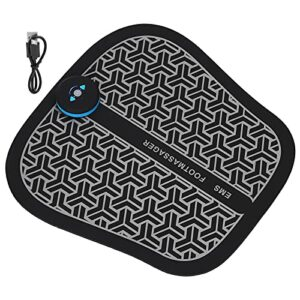 Stimulateur de pied électrique, tapis de massage électrique des pieds tapis de stimulateur de masseur de pieds à micro courant USB rechargeable