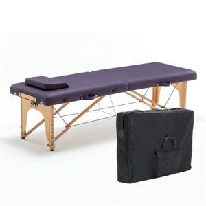 Table de massage pliante portable pour salon de beauté, spa, tatouage, meubles en bois de hêtre, table de massage pour le visage, table de massage (taille : taille unique, couleur : 3)