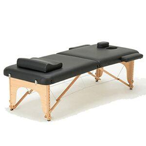 Table De Massage Portable Lit De Massage Spa Lit De Spa Pliable, 73 Pouces De Long Table De Massage Réglable En Hauteur 2 Cintre De Table De Salon De Massage Pliant Lit De Salon De Tatouage Facial