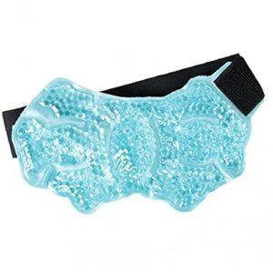 Thérapie chaude Colle-glace Packs Glace Glace Pack Wradies Blessures douloureuses Perles de relief de soulagement des douleurs Perles de gel réutilisables pour l'épaule arrière au genou bleu