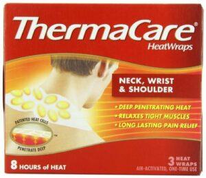 ThermaCare Lot de 6 caloducs pour cou, poignet et épaules, activés par l'air, 3 bandes thermiques par paquet.
