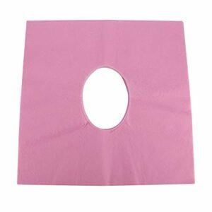 Tissus Oreiller de Table SPA Traitement Couverture de Lit Drap de Table de Massage pour Convience pour SPA Utilisation pour Salon de Coiffure pour Salon de Beauté(【Rose】 Serviette trou de soleil)