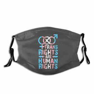 Trans Rights Are Human Rights, Bandana lavable et réutilisable pour adulte avec 2 filtres, pour homme et femme