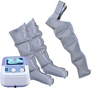 Utile Masseur de jambe pneumatique, pour la taille, la jambe, le mollet et le bras relax de circulation sanguine la physiothérapie utilisée pour soulager la fatigue et la relaxation musculaire (Couleu