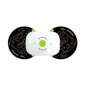 Walmeck Autocollant de massage Multifonctionnel Portable Thérapie Mini Massager, Unisexe Cervical Massage Pad Black