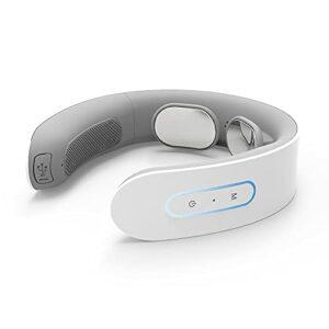Walmeck Masseur de cou intelligent Masseur d'épaule arrière sans fil électrique avec commande vocale