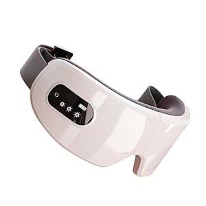 WSZMD Elektrisches Augenmassagegerät Bluetooth Massage Augenmaske Vibration Wärmefunktion, Augenmaske Mit Wärmefunktion Luftverdichtung Musik Für Ermüdung Der Augen, Schmerzen, Trockene Augen,White