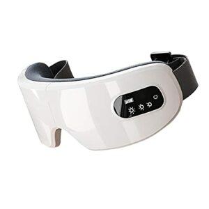 WSZMD Masque De Masseur Électrique des Yeux pour Les Yeux Secs avec Chaleur De La Chaleur, Compression d'air Mask Bluetooth Mask Therapy Therapy Massager,White