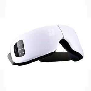 WSZMD Masseur des Yeux Oculaire Électrique Intelligent, Soulager La Fatigue Oculaire Cernes Cadeau Masseur,White