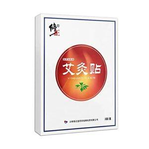 Xiadong Lot de 3 pâtes chauffantes pour la moxibustion des épaules et du cou en bois d'armomwood – Portable pour soulager les douleurs au cou et la fièvre