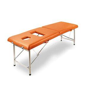 XJBHRB Table De Massage Légère Portative Pliante Professionnelle 2, Table De Spa De Salon pour Le Ménage De Tatouage Facial De Physiothérapie De Beauté De Salon