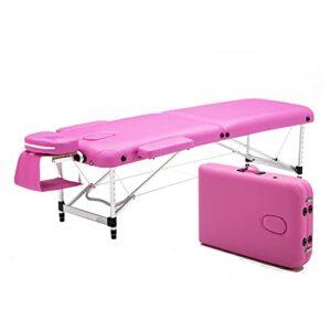 XJBHRB Table De Massage Pliante Lit De Massage Portable Professionnel, Table De Massage Légère pour Le Visage Solon Spa Lit De Tatouage avec Pied en Aluminium pour Salon De Bureau À Domicile
