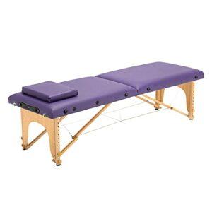 XJBHRB Table De Massage Portable Lit De Spa Pliant, Longue Hauteur Réglable Portable 2 Table De Salon De Massage Pliante Lit De Tatouage De Salon du Visage