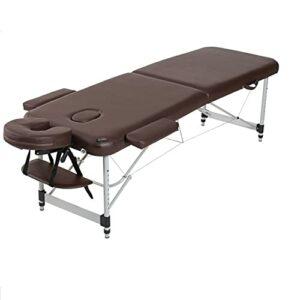 XJBHRB Table De Massage Portable, Lit De Tatouage Spa Salon du Visage Pliant, 2 Lits De Massage Pliants en Aluminium Lit De Tatouage De Salon du Visage Réglable en Hauteur