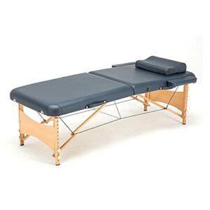 XJBHRB Table De Massage Table De Thérapie De Lit De Massage Portable, Lit De Spa À 2 Plis, Lit De Cils Réglable en Hauteur, Table Faciale Portable, Table D'esthéticienne
