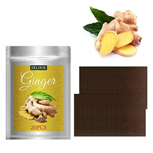 XZZS Herbal Ginger Patch, Ginger Patches for Pain, Pure Nature Pain Relieve for Shoulder, Neck, Hand, Back, Feet, Knee and Remove Swelling (40PCS)