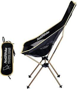 YGCBL Ultra léger Camping Chaise Pliable en Plein air Pliage de Lune Chaise de Lune Portable Lounge Fauteuil Pêche Tabouret Tabouret Oxford Tissu Siège Pliable avec Sac de Rangement (Color : Gold)