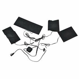 4 en 1 gilet électrique coussin 5V 2A USB veste chauffante coussin chauffant avec 3 vitesses température réglable pour gilet hiver froid à l'extérieur