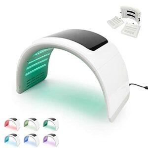 7 couleurs LED Lumière faciale, carrosserie de photon Soins de la peau de la peau de la peau, peau légère Thérapie Thérapie de la peau de la peau faciale Machine anti-rides avec protection de protecti
