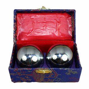 Baoding Lot de 2 balles chinoises pour soulager le stress et masser les mains