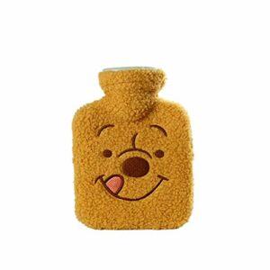 Bouillotte portable en silicone avec housse en peluche mignonne – Cadeau idéal pour les femmes et les filles – Couleur : jaune