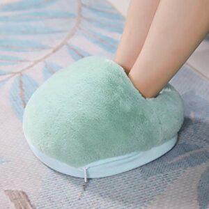Chauffe-pieds, coussin chauffe-pieds électrique prise USB chauffe-pieds USB coussin chauffant pour maison pour famille(#10Bleu Clair, 12)