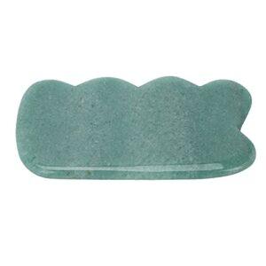 Conseil Guasha, bord arrondi Conseil de massage vert Guasha pour physiothérapie en médecine traditionnelle chinoise pour la maison pour chambre à coucher pour magasin de physiothérapie