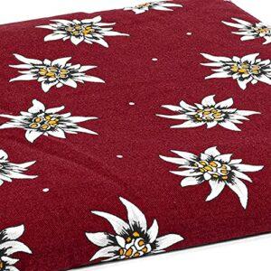 Coussin aux graines de groseilles – fleur d´edelweiss – 30x20cm – Coussin thermique – Coussin chauffant